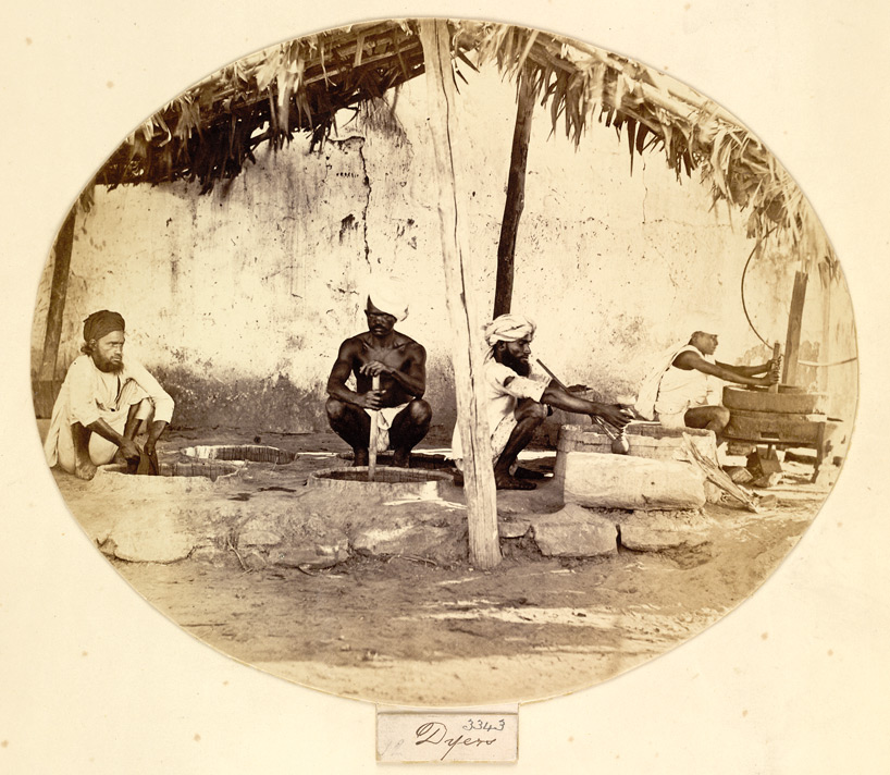 Dyers at work, Western India
